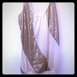 Sparkly gold and cream tunic